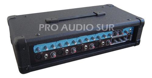 consola potenciada moon m410 cabezal 4 canales mixer 200w