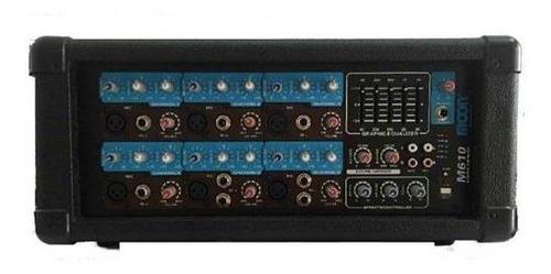consola potenciada moon m610 mixer 6 canales