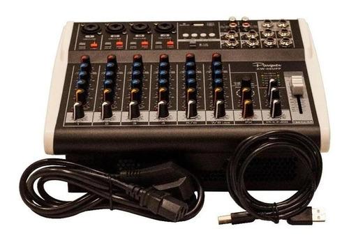 consola potenciada parquer 8 canales 48v graba a pc bt y usb