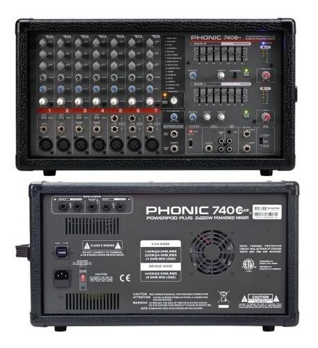 consola potenciada phonic powerpod 740 plus 7 canales 400w