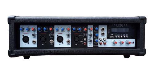 consola potenciada usb bt 2000w 4 canales mixer amplificador