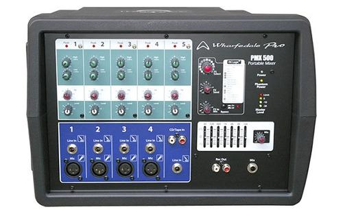 consola potenciada wharfedale pro,5ch,4xlr/lin+1st, 150w/4oh