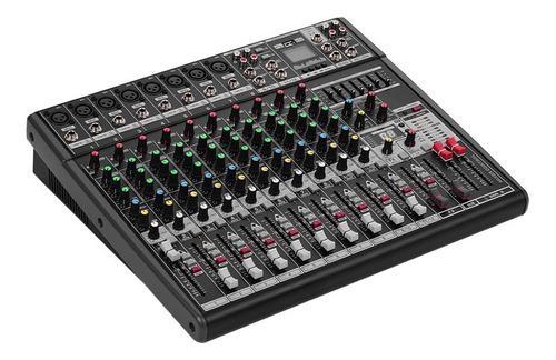 consola profesional de 12 canales dj de mezcla de sonido dig