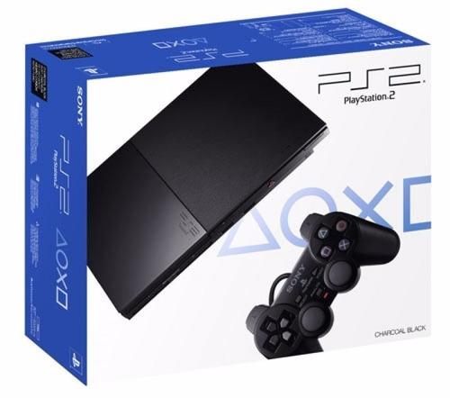 consola ps2 playstation 2 slim 1 joystick inalambrico + caja