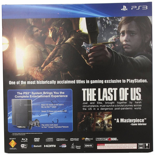 consola ps3 500gb the last of us bundle