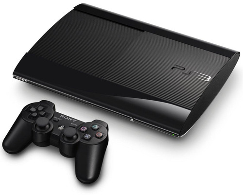 consola ps3 ultra slim 500 gb 2 joysticks + 10 juegos