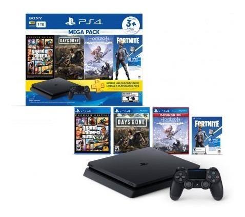 consola ps4 1tb + 1 control + 3 juegos consola ps4 1t lk852