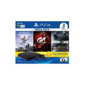 Consola Ps4 1tb +3 Juegos +plus 3 Meses