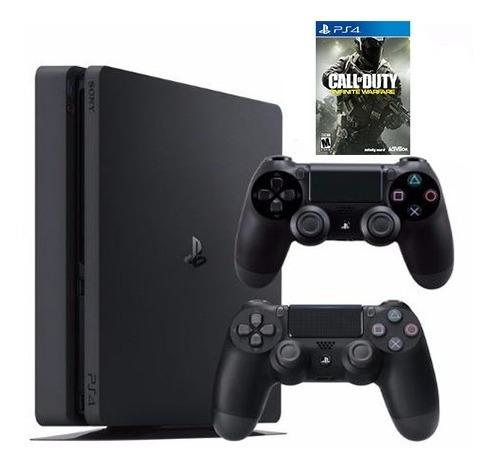 consola ps4 4 1 tb + juego call of duty + 2 controles