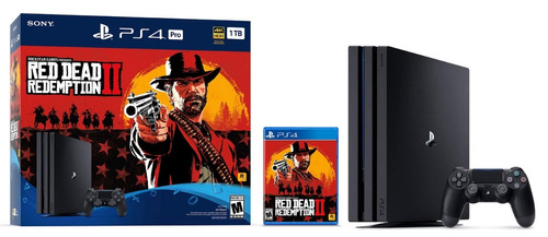 consola ps4 pro 1tb + red dead redemption 2 + control nuevo
