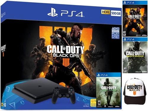 consola ps4 slim 500gb + 3 juegos en español + gorra. nueva