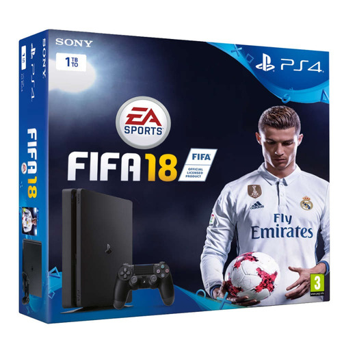 consola ps4 slim sony 1tb + fifa 18