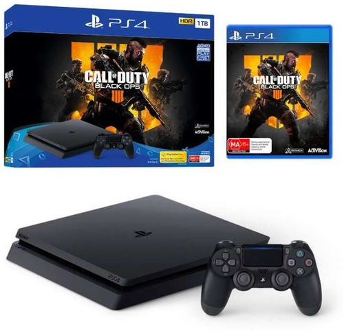 consola ps4 sony playstation 4 1tb slim call of duty b ops 4