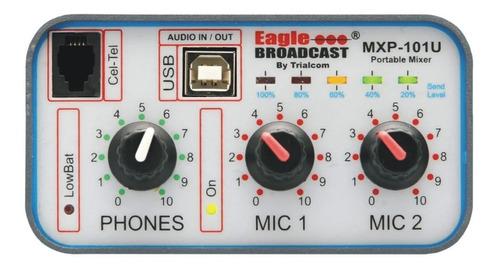 consola radiodifusión exteriores mxp 101u 2 canales con usb