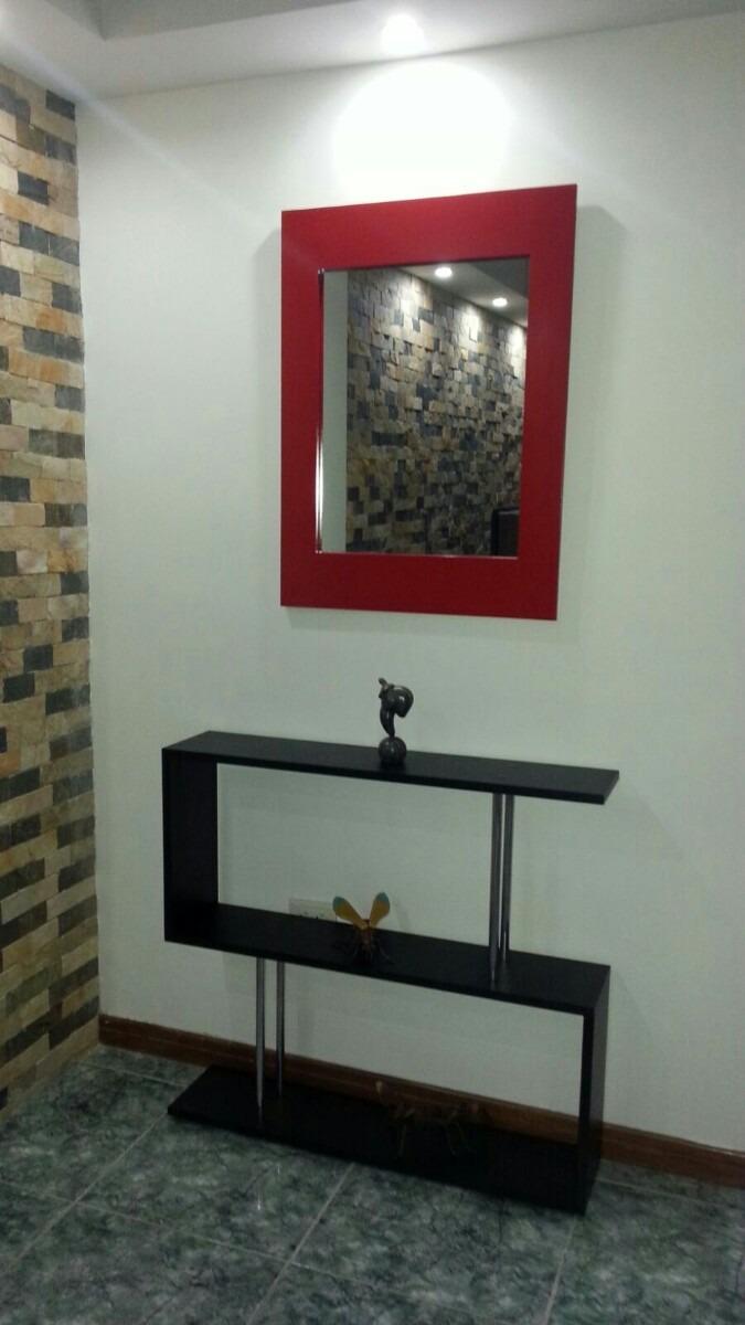 consola recibidor modernas con espejo en oferta bs 229