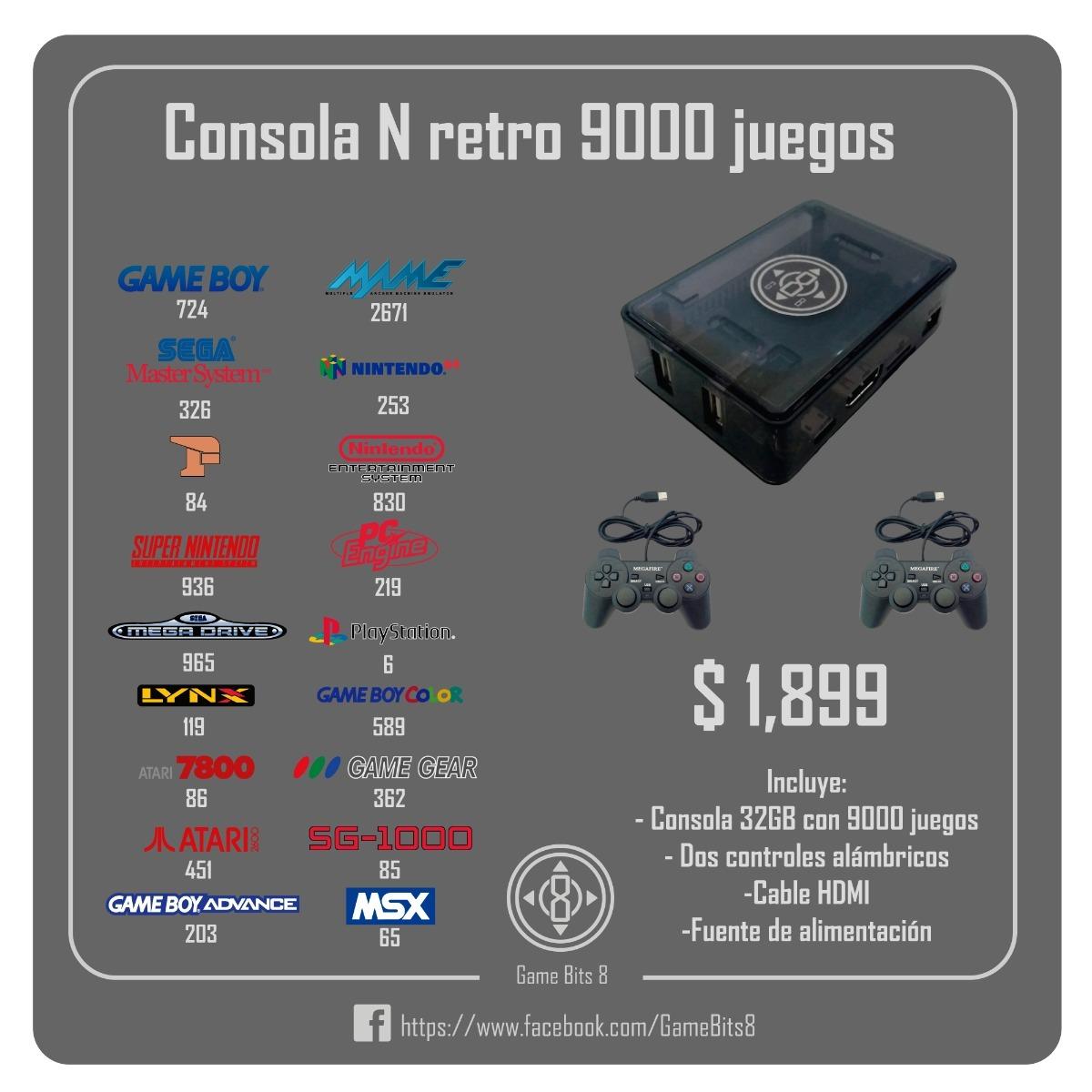 Consola Retro 9000 Mil Juegos Tipo: Orange Pi, Raspberry Pi