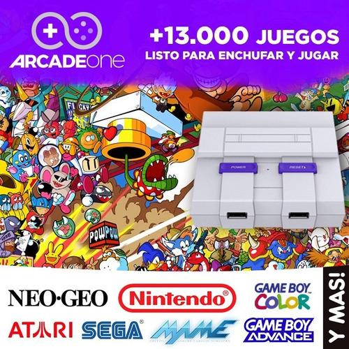 consola retro arcade one + 2 joysticks inalambricos