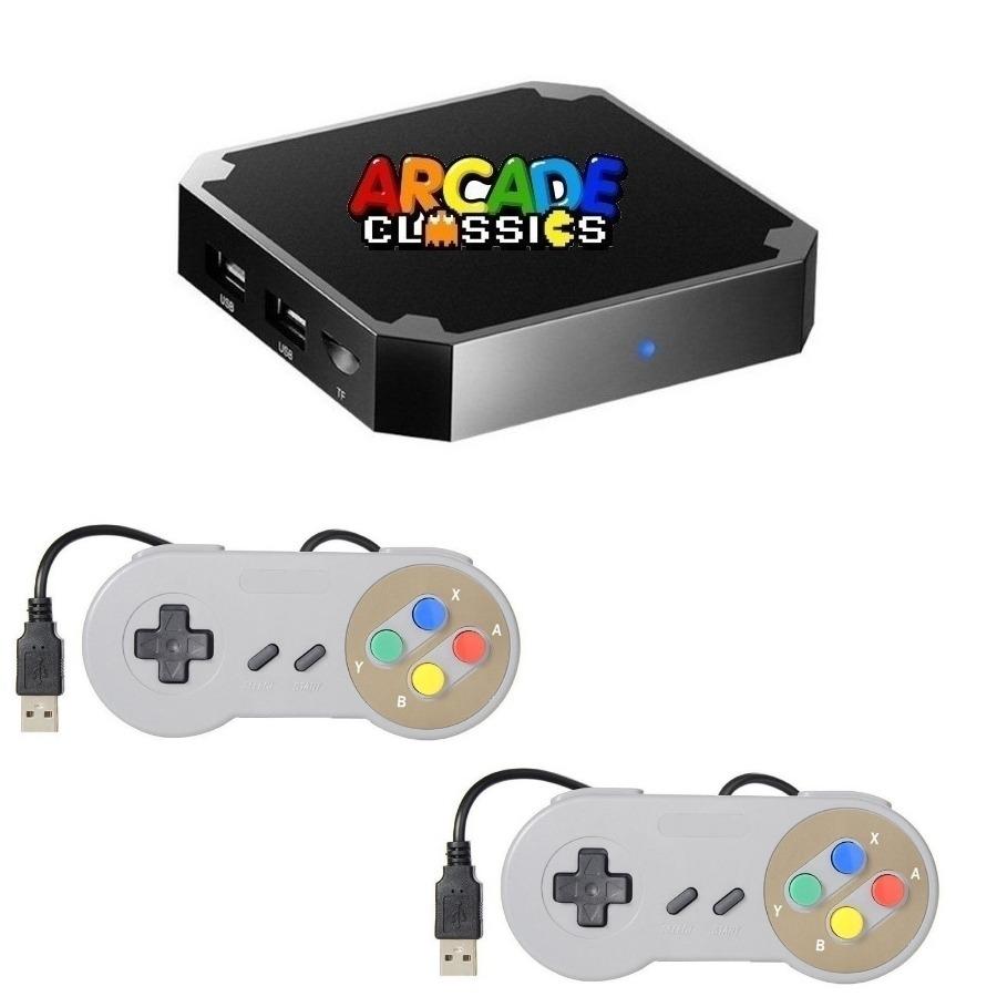 Consola Retro Arcade + Tv Box Netflix 2 Joystick Recalbox