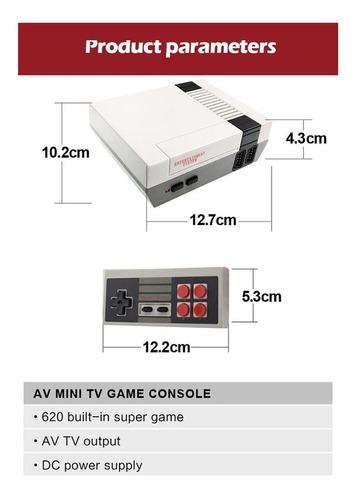 consola retro clásica 620 juegos av controles videojuegos