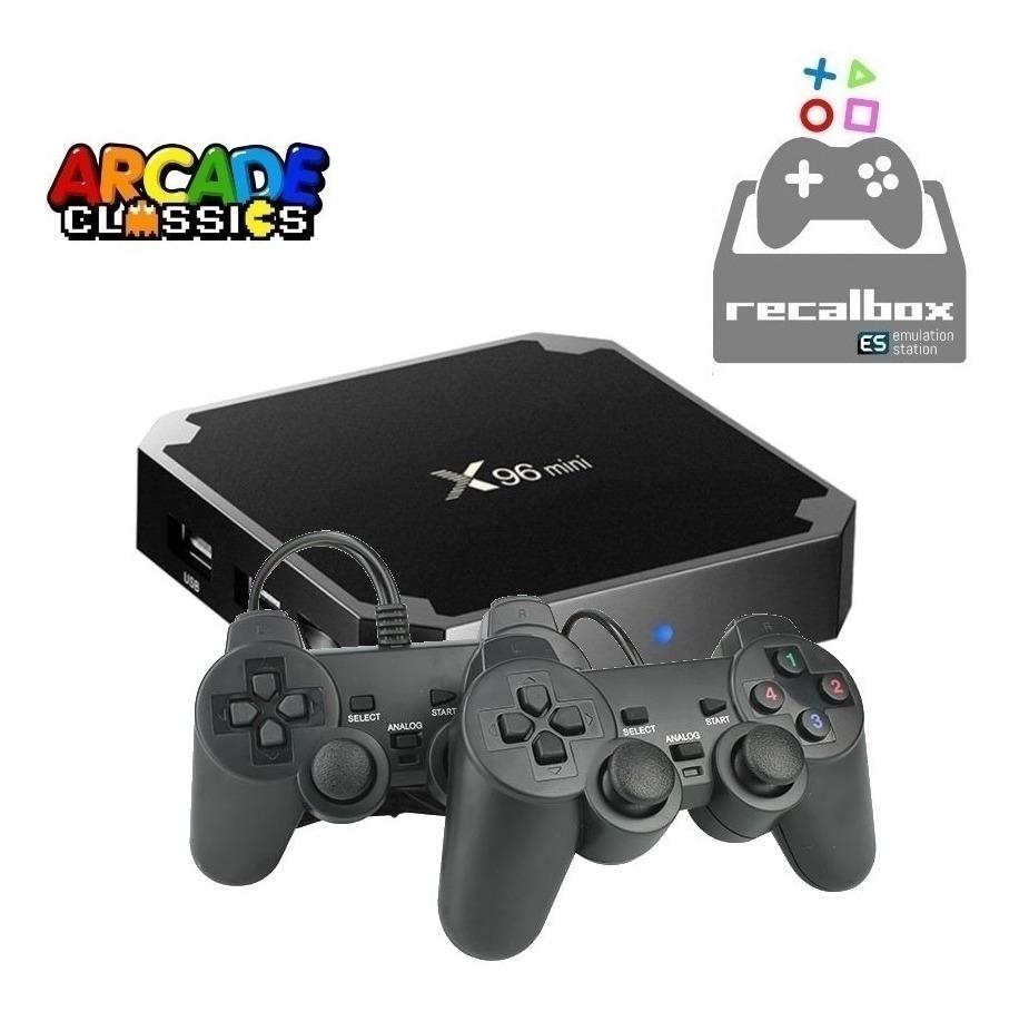 Consola Retro Juegos Tv Box 2 Joystick 10000 Juegos Recalbox