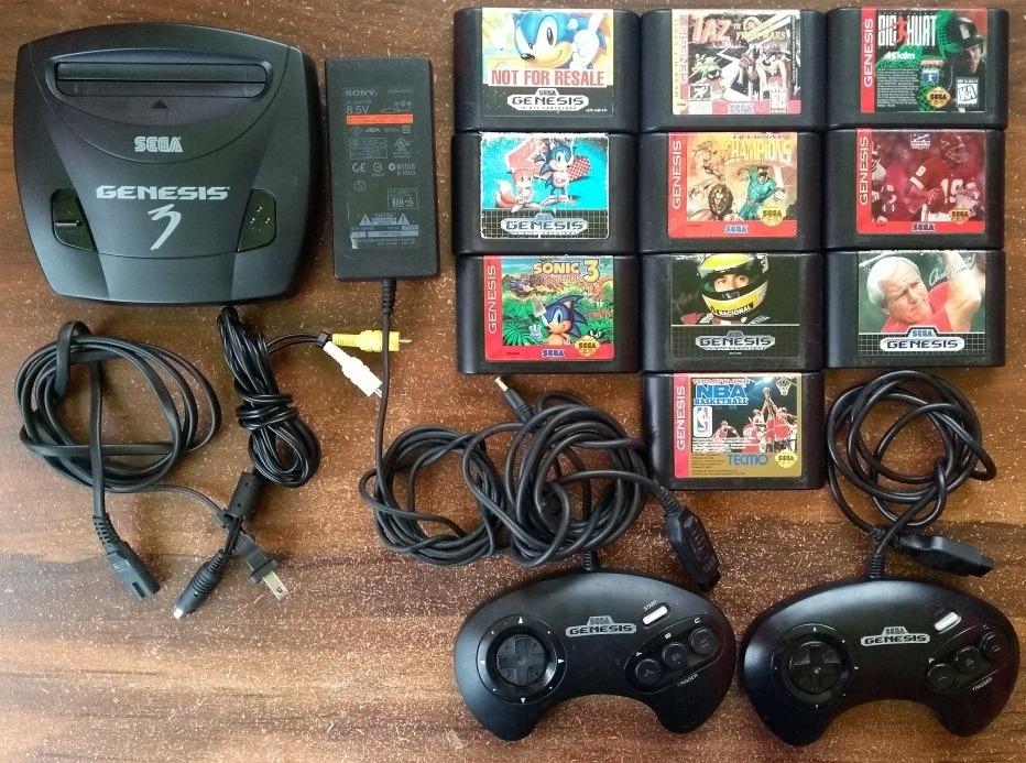 Consola Sega Genesis 3 Completa Trilogia Sonic Juegos