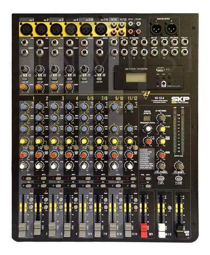 consola skp vz12.4 12 canales eq, efectos graba usb