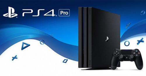 consola sony playstation 4 pro + 2 joystick + 2 juegos + cam