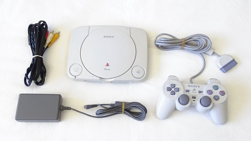 consola sony ps one scph-101 con control y cables ps1