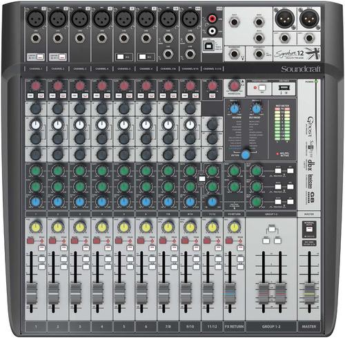 consola soundcraft signature 12 mtk multi pista track usb