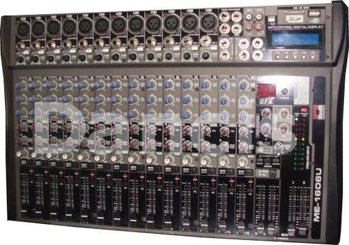 consola stereo 16 canales con usb camara y efectos