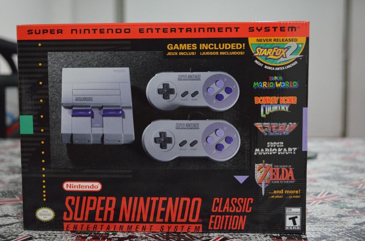 Consola Super Nintendo Classic Edition Con Juegos Y Joystick