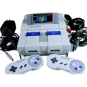 Consola Súper Nintendo Con Mario World.