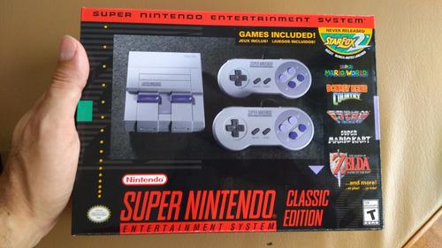consola super nintendo snes mini classic edition 21 juegos