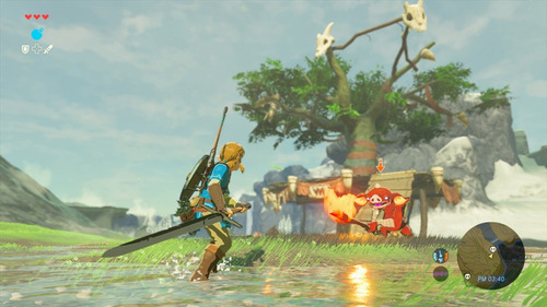consola switch neon + the legend of zelda:breath of the wild