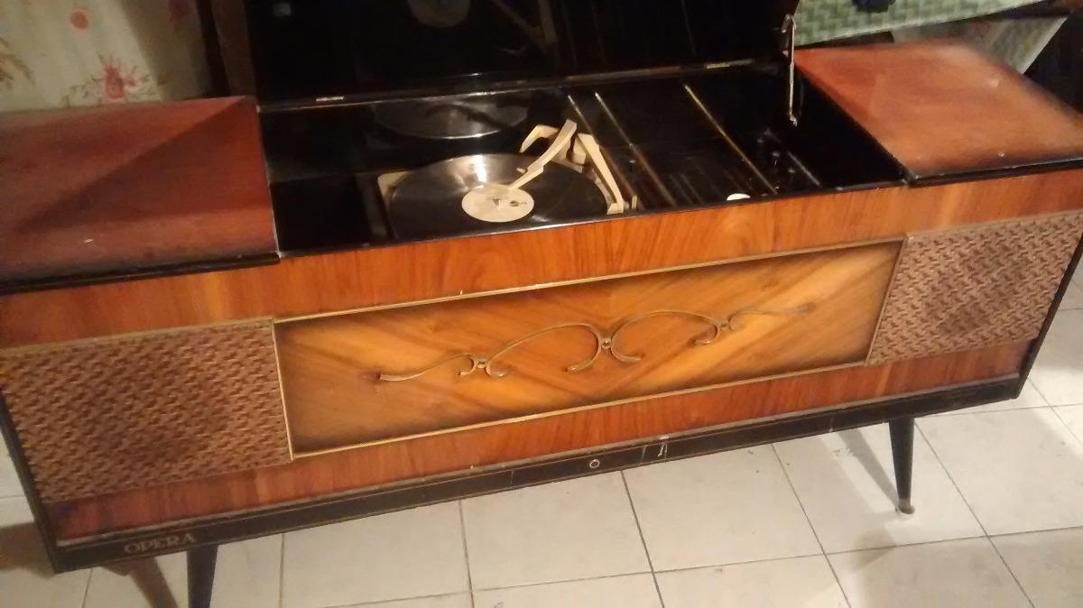 Consola tocadiscos antigua vintage imperial opera mueble for Consolas antiguas muebles