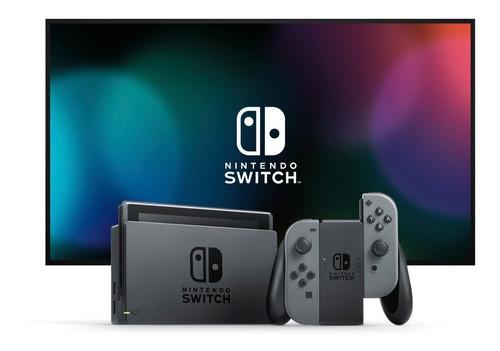 consola videojuegos nintendo switch c/controles joy-con gris