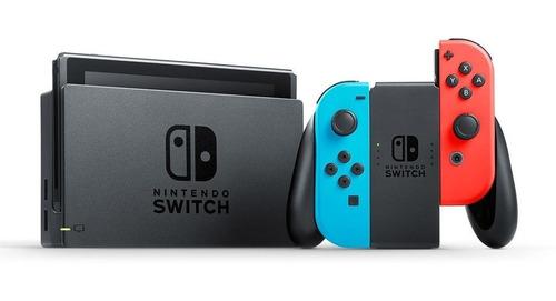 consola videojuegos nintendo switch c/controles joy-con neon