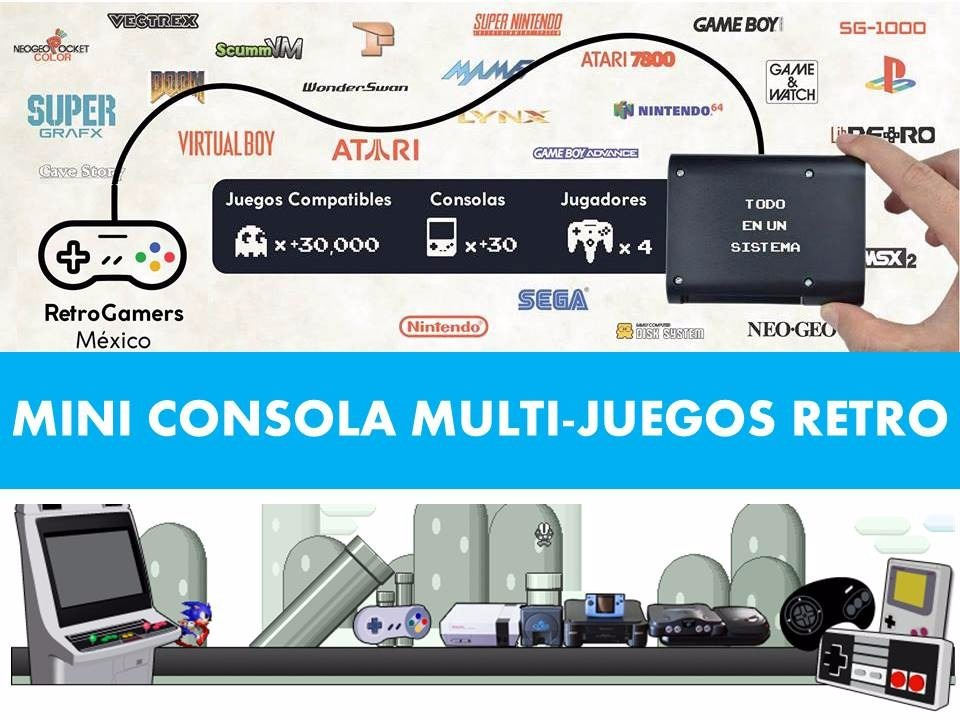 Mini Consola Videojuegos Retro 4 Mandos 2 Snes Y 2 Play