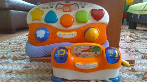 consola vtech v.smile baby + cassetera para tv + juego