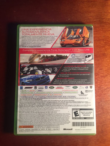 consola xbox 360 forza motorsport