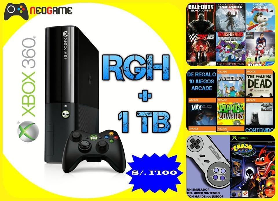 Consola Xbox 360 Rgh Con Disco Duro 1tb S 800 00 En Mercado Libre