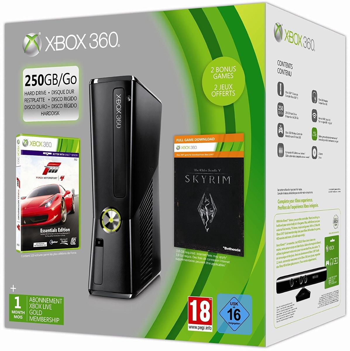 Consola Xbox 360s 250 Gb Kinect 30 Juegos 2 Jostick Navidad
