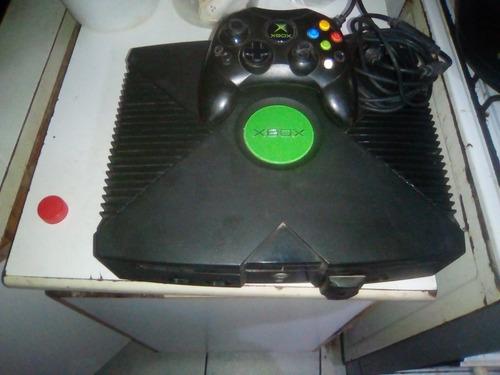 consola xbox clasica negra semi completa no tiene joystick