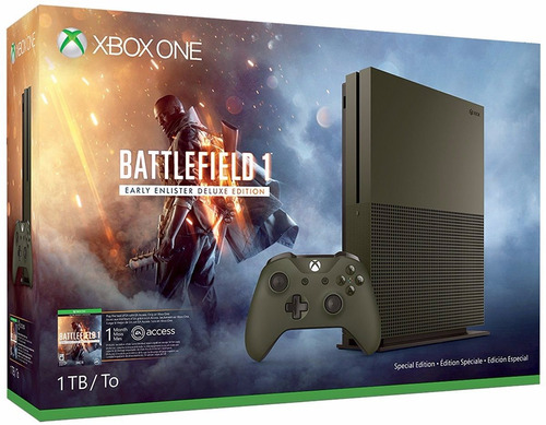 consola xbox one 1tb battlefield 1 early enlister deluxe edt