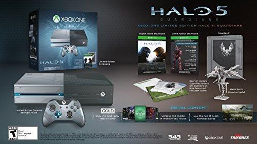 consola xbox one 1tb - edición limitada halo 5: guardians