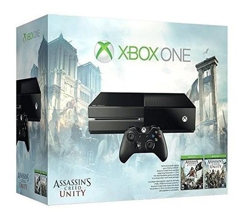 consola xbox one 500gb + assassin´s creed unity nueva caja