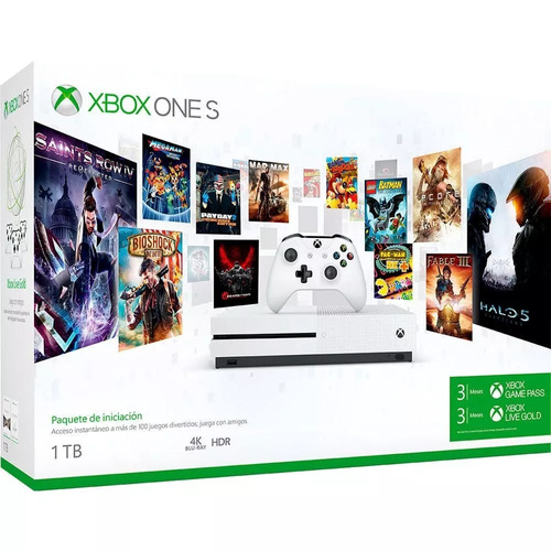 consola xbox one s , 1tb + game pass 3 meses + live 3 meses