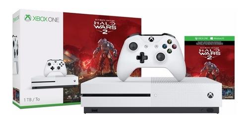 consola xbox one s 1tb + juego halo wars 2 +4k+ control
