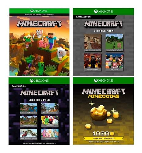 Consola Xbox One S 1tb Minecraft + Control Sport White