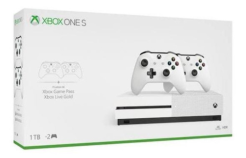 consola xbox one s 4k 2 controles + game pass